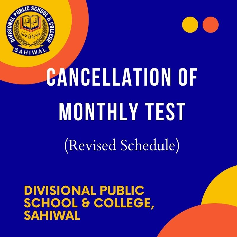 Cancellation of Monthly Test